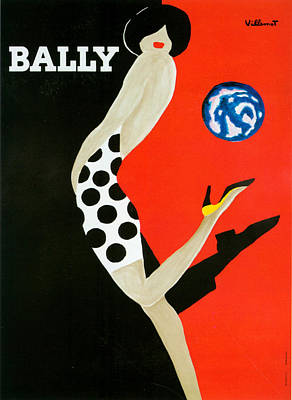 1980s France Bally Poster Art Print by The Advertising Archives