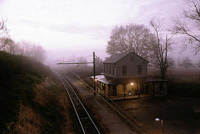 1980s Sunrise Morning Light On Westtown Art Print