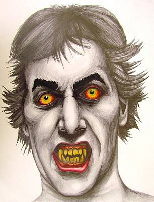 Dark Evil Scary Drawing - 1981's Nightmare by Eric McGreevy