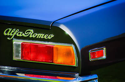Photograph - 1982 Alfa Romeo Spider Veloce Taillight Emblem -0751c by Jill Reger