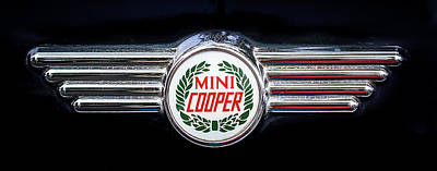 Photograph - 1982 Austin Mini Cooper Badge by Ronda Broatch