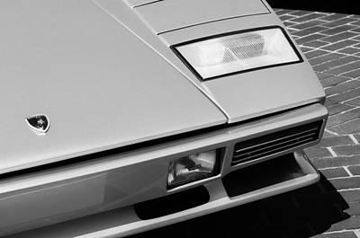 Photograph - 1982 Lamborghini Countach 5000s Hood Emblem by Jill Reger