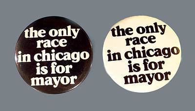 Mixed Media - 1983 Chicago Mayoral Race Buttons by Ed Meredith