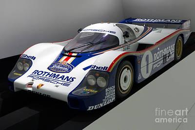 1983 Porsche 956 Print by Paul Fearn