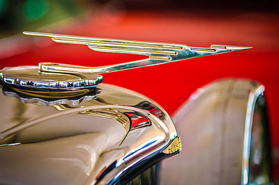 1984 Duesenberg Sj - Twenty Grand - Tribute Hood Ornament -1652c Art Print by Jill Reger