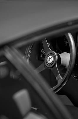 1984 Photograph - 1984 Ferrari 512 Bbi Steering Wheel Emblem by Jill Reger