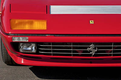 1984 Photograph - 1984 Ferrari 512bbi Grille Emblem -0524c by Jill Reger