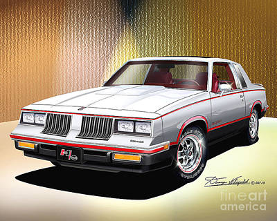 Automotive Art Drawing - 1984 Hurst Olds  by Danny Whitfield