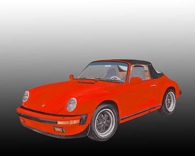 Basic Painting - 1984 Porsche 911 Cabriolet  by Jack Pumphrey