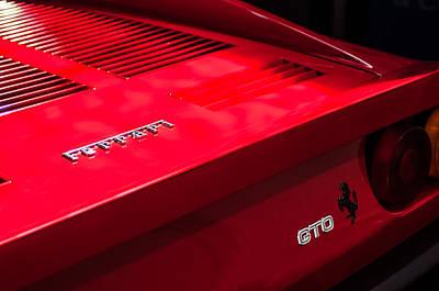 1985 Ferrari 288 Gto Taillight Emblem Art Print by Jill Reger