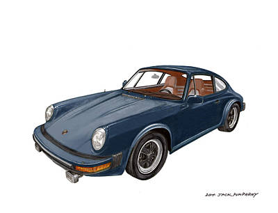Painting -  Porsche 911 by Jack Pumphrey