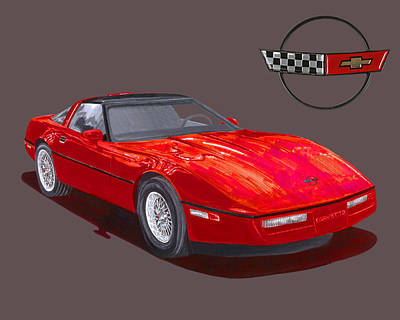 Painting - 1986 Corvette by Jack Pumphrey