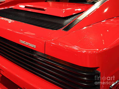 Photograph - 1986 Ferrari Testarossa - 5d19892 by Wingsdomain Art and Photography