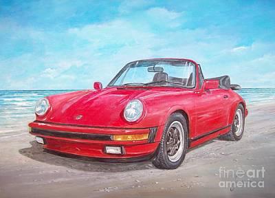 Painting - 1987 Porsche Carrera Cabriolet by Sinisa Saratlic
