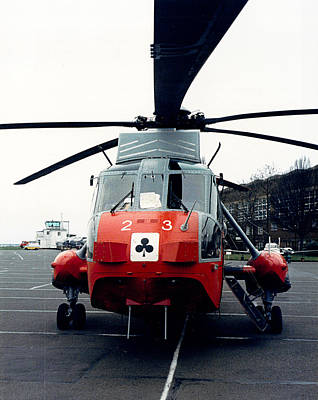Photograph - 1988 - Royal Navy Sea King 23 by Richard Reeve