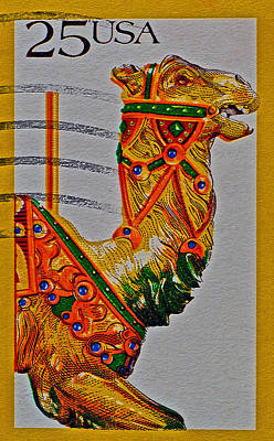 Photograph - 1988 Carousel Camel Stamp by Bill Owen