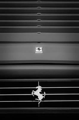 89 Photograph - 1989 Ferrari 329 Gts Grille Emblem by Jill Reger