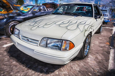 Photograph - 1990 Ford 5 0 Mustang Painted  by Rich Franco