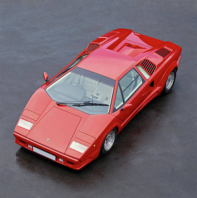 Sportscar Photograph - 1990 Lamborghini Countach Qv by Panoramic Images