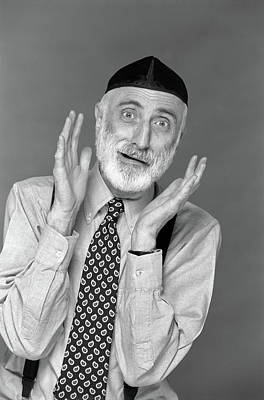 Hebrew Stories Photograph - 1990s Character Portrait Man Gray Beard by Vintage Images