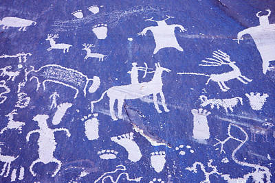 Knowledge Painting - 1990s Pictographs On Newspaper Rock by Vintage Images