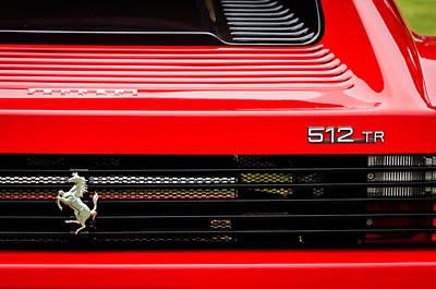 1993 Ferrari 512 Tr Taillight Emblem -0352c Art Print by Jill Reger