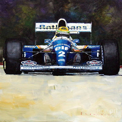 1994 Ayrton Senna Williams Renault Fw16 Art Print by Yuriy Shevchuk