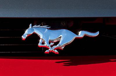Photograph - 1994 Ford Mustang Corbra Custom Convertible Emblem by Jill Reger