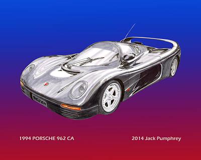 Photograph - 1994 Porsche 962 C A by Jack Pumphrey