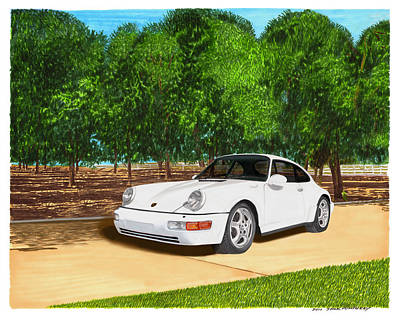Painting - 1994 Porsche 964 Wide Body by Jack Pumphrey