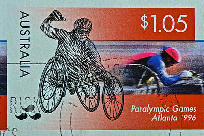 Photograph - 1996 Paralympic Games Australia Stamp by Bill Owen