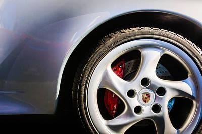 Photograph - 1996 Porsche 993 Turbo Wheel Emblem -0220c by Jill Reger