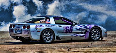 Race Car Photograph - 1997 Corvette by Sylvia Thornton
