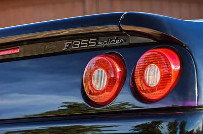 1997 Ferrari F 355 Spider Taillight Emblem -221c Art Print
