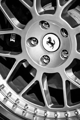 1997 Ferrari F 355 Spider Wheel Emblem -125bw Art Print