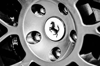 1997 Ferrari F 355 Spider Wheel Emblem -201bw Art Print