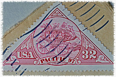 Photograph - 1997 Pacific Stagecoach Stamp by Bill Owen