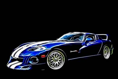 Digital Art - 1997 Viper Hennessey Venom 650r 5 by Davandra Cribbie