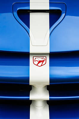Photograph - 1998 Dodge Viper Gts-r Grille Emblem by Jill Reger