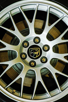Photograph - 1998 Dodge Viper Gts-r Wheel Emblem by Jill Reger