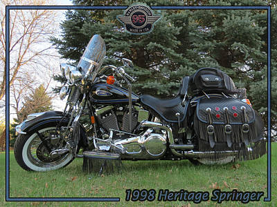 Photograph - 1998 Harley Davidson Heritage Springer II by Patti Deters