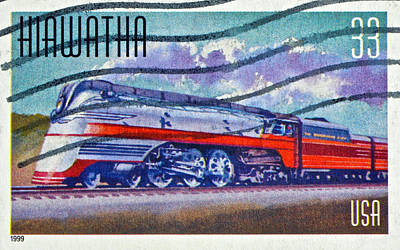 Photograph - 1999 Hiawatha Train Stamp by Bill Owen