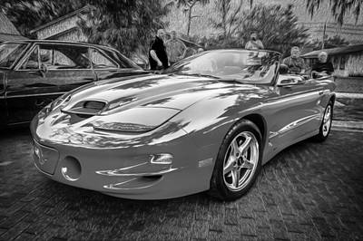 1999 Pontiac Trans Am Anniversary Edition Painted Bw    Art Print