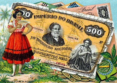 Painting - 19th C. Brazilian Commerce And Culture by Historic Image