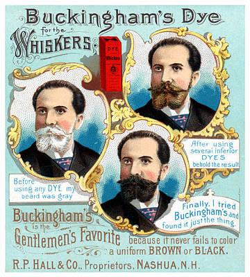 19th C. Buckingham's Facial Hair Dye Print by Historic Image
