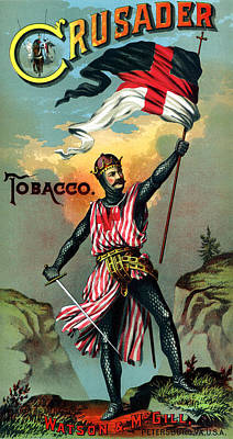 Painting - 19th C. Crusader Brand Tobacco by Historic Image