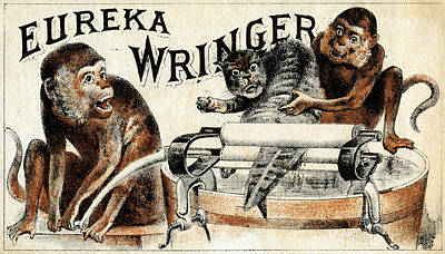Laundry Painting - 19th C. Eureka Wringer by Historic Image