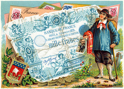 Painting - 19th C. French Commerce And Culture by Historic Image