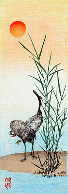 Painting - 19th C. Japanese Cranes by Historic Image