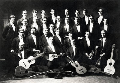 Photograph - 19th C. Men's Musical Group by Historic Image